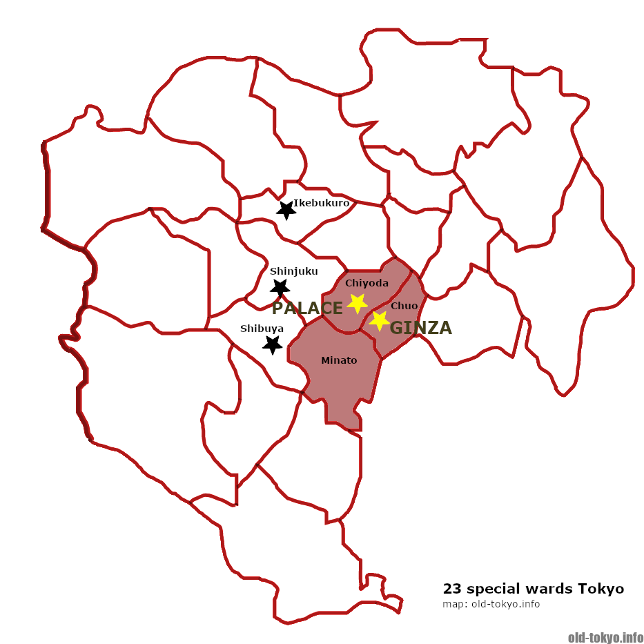 Where is Tokyo's city centre? | Exploring Old Tokyo on physical map of tokyo, subway map of tokyo, climate map of tokyo, clear map of tokyo, blank map japan, rail map of tokyo, satellite map of tokyo, political map of tokyo, topographical map of tokyo,